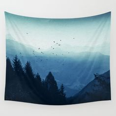 Buy Blue Valmalenco - Alps at sunrise Wall Tapestry by Dirk Wuestenhagen Imagery. Worldwide shipping available at Society6.com. Just one of millions of high quality products available.