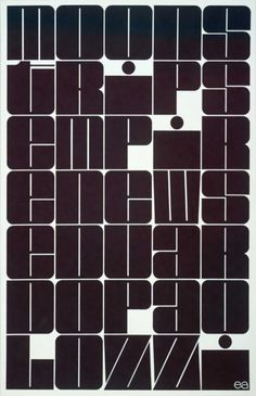 Moonstrips Empire News by Eduardo Paolozzi, 1967 / #design #typography