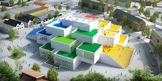 BIG-designed LEGO house takes shape in denmark