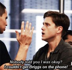 Nobody told you I was okay? (gif) (another scene in which Aaron Tveit deserves an Emmy)