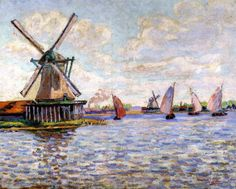 Windmills in Holland by Armand Guillaumin, Oil painting reproduction