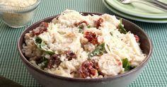 Aprenda a preparar a receita de Risoto de palmito com tomate seco e rúcula