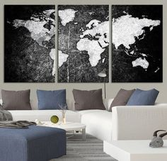 Executive world map canvas print wall map gift gift for him executive world map canvas print wall map gift gift for him gift for her world wall map free shipping map home decor executive map future house gumiabroncs Image collections