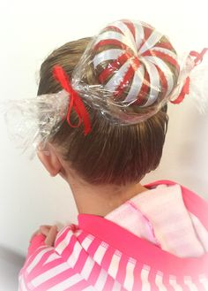 Crazy Hair Day Girls, Crazy Hair For Kids, Crazy Hair Day At School, Girl Hair Dos, Crazy Hair Days, Little Girl Hairstyles, Pretty Hairstyles, Ideas Maquillaje Carnaval, Christmas Hair