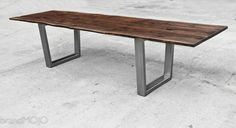 Live Edge Dining Table with Steel legs and by brandMOJOinteriors