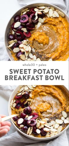 This sweet potato breakfast bowl is the perfect breakfast: quick. - Vegane Desserts - This sweet potato breakfast bowl is the perfect breakfast: quick… This sweet potato breakfast bowl is the perfect breakfast: quick… Whole 30 Breakfast, Sweet Potato Breakfast, Breakfast Potatoes, Paleo Breakfast, Breakfast Bowls, Breakfast Ideas, Breakfast Pancakes, Breakfast Bake, Breakfast Casserole