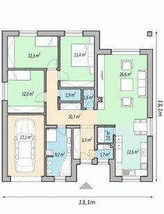 My House Plans, Bedroom House Plans, Octagon House, Japan Architecture, Apartment Floor Plans, Planer, Beautiful Homes, Construction, House Design