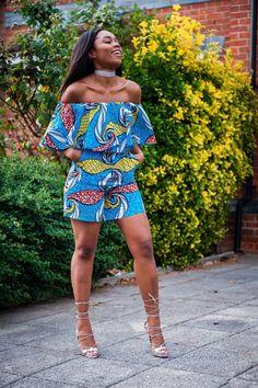 Vêtements africain africain Combi-short Combi-short Ankara