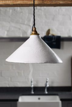 The beautiful deVOL Ceramic Pendant Light, finished with our favourite crackle glaze