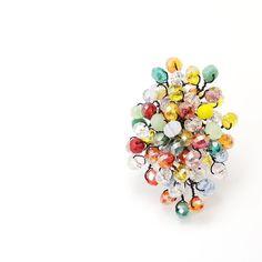 Candy Bouquet Ring Luxury Handmade Ring by MariYunJewelry on Etsy