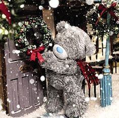 3d Christmas, Christmas Scenes, Christmas Goodies, Christmas Greetings, All Things Christmas, Vintage Christmas, Christmas Decorations, Teddy Bear Images, Teddy Pictures