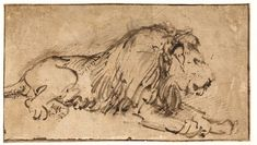 Rembrandt van Rijn, Recumbent Lion, c. Purchased with the support of the Vereniging Rembrandt. Rembrandt Drawings, Rembrandt Paintings, Classic Artwork, Art Diary, Sexy Drawings, Gesture Drawing, Dutch Artists, You Draw, Art Reproductions