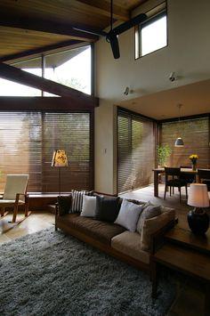 Artwork For Home Decoration Key: 3259219424 Living Room Interior, Home Living Room, Living Spaces, Home Room Design, House Design, Interior Architecture, Interior And Exterior, High Ceiling Living Room, Japanese Interior