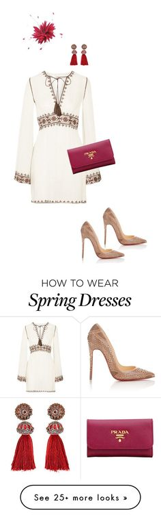 """Spring carnival inspo"" by embelleville on Polyvore featuring Talitha, Christian Louboutin, Prada, Jane Tran and Lanvin"