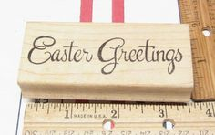 EASTER GREETING BY NORTHWOODS  RUBBER STAMP #Northwoods #rubberstamp