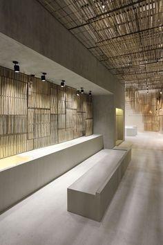 Hormigon y bambú