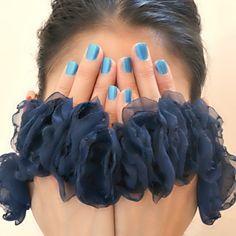 10 navy blue fabric flower rings create wedding bouquet! $100.00