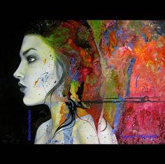 """Plethora"" by Landi-Michelle. #LandiMichelleArts #femaleartist #art #woman #portrait #vibrantpainting #chrysalis #oilpainting #colourfulpainting #femaleface #beautifulface #unlimitedmoves"
