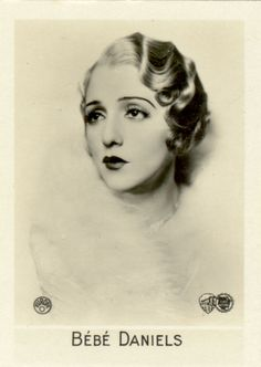 BeBe Daniels sporting a finger wave hairstyle from the 1920's. Description from pinterest.com. I searched for this on bing.com/images