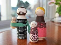 Cute and links to Etsy shop where you can buy these blank wood dolls