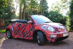 "I""ve never wanted a Beetle until now! Tartan New VW Beetle Vw Cabrio, Celtic, Tartan Fashion, Scottish Tartans, Scottish Plaid, Volkswagen New Beetle, Beetle Bug, Christmas Cats, Tartan Christmas"