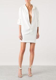 Alexandre Vauthier white crepe dress | Montaigne Market