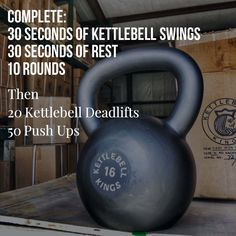 Here is how to start your week off! Use a Kettlebell you can normally swing for 30 or so reps on the first part. Then a heavy Kettlebell relative to your strength for the deadlift Best Kettlebell Exercises, Kettlebell Kings, Kettlebell Challenge, Kettlebell Circuit, Kettlebell Training, Kettlebell Benefits, Kettlebell Deadlift, Beginner Kettlebell Workout, Cross Training