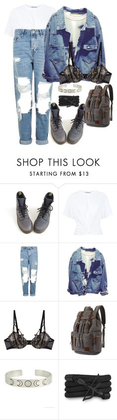 """""""Please don't put your life in the hands, of a rock and roll band they'll throw it all away"""" by katiede-lannoy ❤ liked on Polyvore featuring Dr. Martens, T By Alexander Wang, Topshop, Chantal Thomass and Monza"""