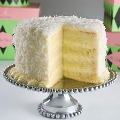 Coconut Layer Cake - My Aunt Patti makes the best ! Her recipe is also better than this one (best sugar cookie icing ovens) Köstliche Desserts, Delicious Desserts, Coconut Pineapple Cake, Coconut Cakes, Pineapple Layer Cake Recipe, Cake Recipes, Dessert Recipes, Cakes And More, Let Them Eat Cake