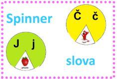 Počáteční písmeno - abeceda - slova - spinner Chart