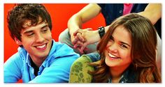 """Brandon and Callie from """"The Fosters"""". So cute! Look at the way he looks at her :)"""
