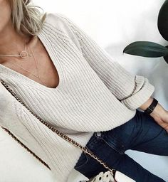 #fall #fashion / cream knit