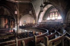 woodward avenue presbyterian church built in 1911 in Detroit is now a Gothic Revival building hauntingly devoid of life.