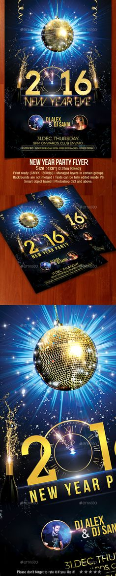 Buy New Year Party Flyer by creativevalues on GraphicRiver. New Year Party flyer is one of the best flyer design for your upcmoing party.