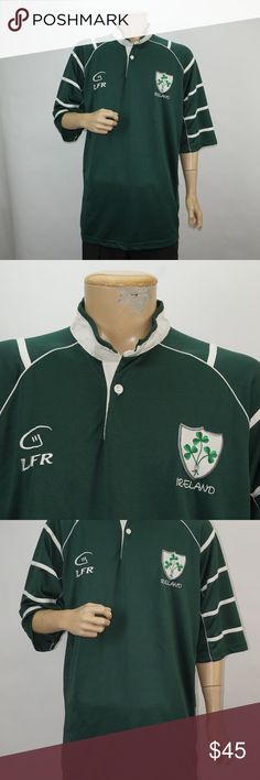 ea7f8b320db42 MENS LIVE FOR RUGBY LFR IRELAND JERSEY MENS LIVE FOR RUGBY LFR IRELAND  JERSEY SIZE XXLARGE COLOR GREEN WHITE SEE PICS LIVE FOR RUGBY Shirts