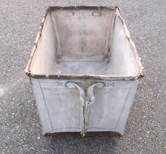 Vintage Industrial Canvas Hamper Cart Basket. by Vintivity on Etsy, $55.00