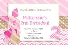 partyexpressinvitations - Piglet Birthday Invitation, $8.99 (http://www.partyexpressinvitations.com/piglet-birthday-invitation/)
