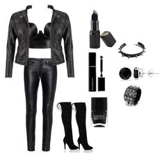 """""""Biker Chic✖️"""" by n-viana on Polyvore featuring Yves Saint Laurent, Posh Girl, maurices, Barry M, Givenchy, Nails Inc., WithChic and Allurez"""