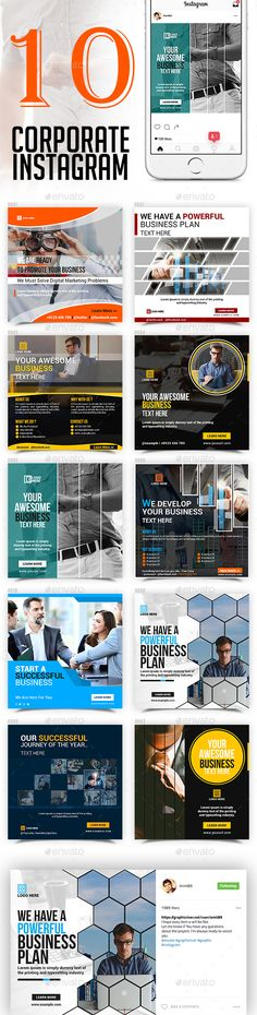 Corporate Business Instagram Pack - Templates PSD