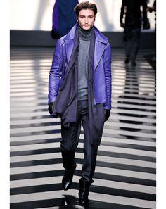 Turtlenecks: Men's Fall Fashion Trend: Fashion Shows: GQ I love purple!!!