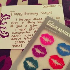 I LOVE #snailmail, especially when it contains a package with an awesome gift! So thoughtful @chloeeehunter, thank you my dear. Pucker up! .         #puckerup #lips #ilovemygirls #thankyou #birthday #kalynsbirthday #redlips #effiespaper #happybirthday @kalynjohnson  (at effie's paper HQ)