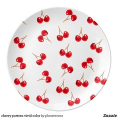 Shop cherry pattern vivid color porcelain plate created by planetevans. Cd Decor, Indie Room Decor, Cd Wall Art, Cd Art, Cd Crafts, Diy Crafts For Girls, Vinyl Record Art, Vinyl Art, Aesthetic Painting