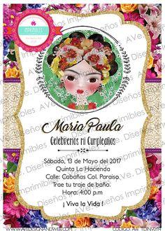 Invitaciones Frida Kahlo Invitaciones Fiesta Mexicana