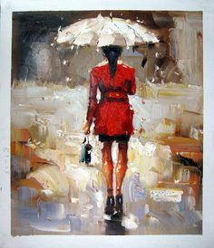 by - City Life - - Girl with Umbrella - Museum Quality Oil Painting on Canvas Art by Artseasy on Etsy Oil Painting On Canvas, Canvas Art, Umbrella Painting, Illustrations, City Life, Umbrellas, All Art, Photos, Museum