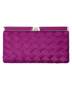 Evie Satin Weave Clutch Bag