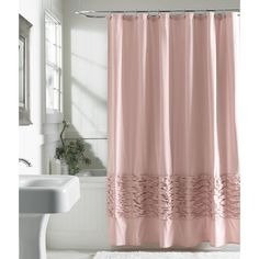 Metaphor Fabric Shower Curtain - Blush, Pink