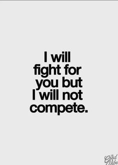 I will NOT compete!