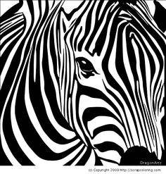 zebra head coloring page