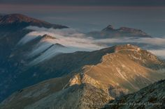 Clouds flowing over the Tatra Mountains main ridge.  www.simplycarpathians.com