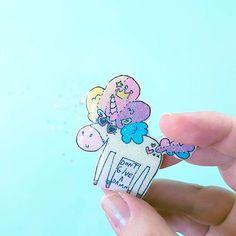 Queen of Everything - Unicorn glitter brooch pin Unicorn And Glitter, Queen Of Everything, Brooch Pin, Instagram Posts, Cute, Brooch, Kawaii